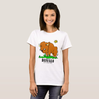 Bufalo vid Lorenzo kvinna T-tröja T Shirt