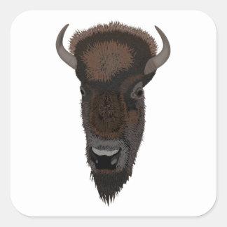 Buffel Fyrkantigt Klistermärke