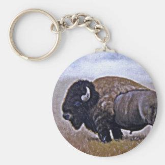 Buffel Rund Nyckelring