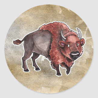 Buffel Runt Klistermärke