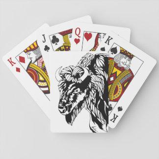 Buffel som leker kort casinokort