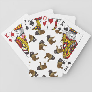 Buffel som leker kort kortlek