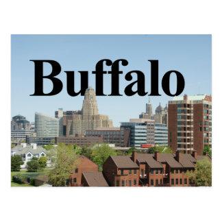 BuffelNew York horisont med buffeln i himmlen Vykort