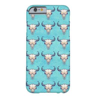 Buffelskallemålning på turkospapper barely there iPhone 6 fodral