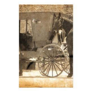 Buggyen för hästen, Amish kommer med den hem- nya Brevpapper