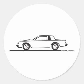 Buick tusen dollarmedborgare 1987 runt klistermärke