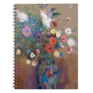 Bukett av blommor - Odilon Redon Anteckningsbok Med Spiral
