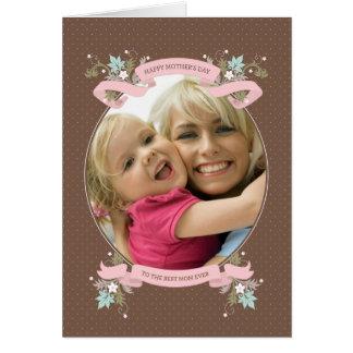 Bukett av det kärlek inramade fotomors dagkortet hälsningskort