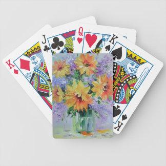 Bukett av solrosor spelkort