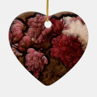 Bukett för Bordeaux pionblomma Julgransprydnad Keramik