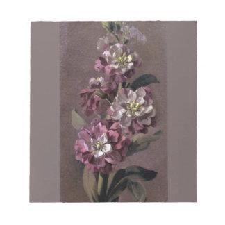 Buketten av Gilly blommar anteckningsblocket Anteckningsblock