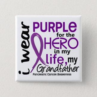 Bukspottkörtel- cancer för min hjälte min farfar 2 standard kanpp fyrkantig 5.1 cm