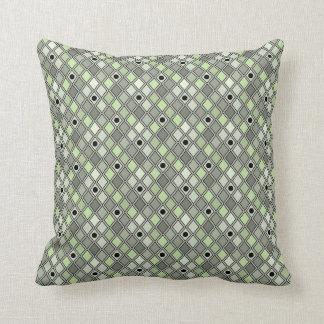 Buktad grönt för Harlequin mönster Kudde