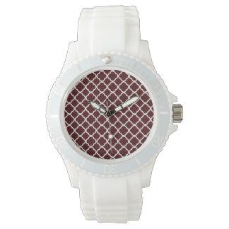 Bulgar rosa Quatrefoil Armbandsur