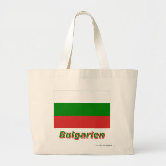 Bulgarien Flagge mit Namen Tote Bags