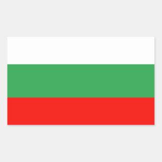 Bulgarienflagga Rektangulärt Klistermärke