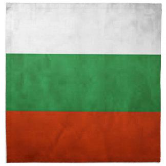 Bulgarienflagga Tygservett