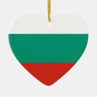Bulgarisk flagga julgransprydnad keramik