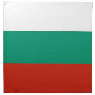 Bulgarisk flagga på den MoJo servetten