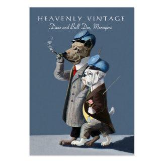 Bulldogg och great dane - rolig vintage set av breda visitkort