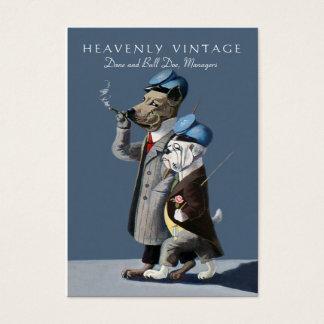 Bulldogg och great dane - rolig vintage visitkort