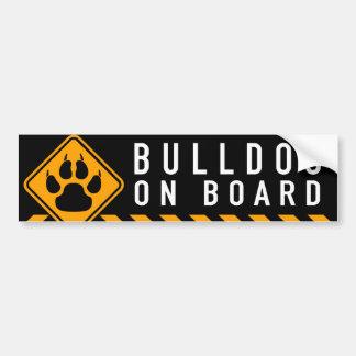 Bulldogg ombord bildekal