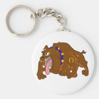 Bulldogg Rund Nyckelring