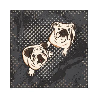 Bulldoggar Canvastryck