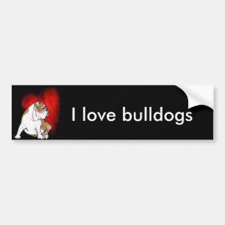 Bulldoggkärlek Bildekal