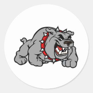Bulldoggstil Runt Klistermärke