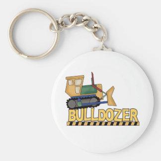 Bulldozer Rund Nyckelring