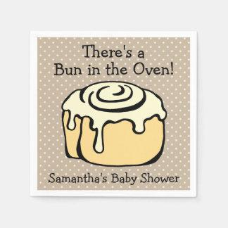 Bulle i baby shower för kanelbrun rulle för ugn papper servetter