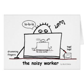 Bullrig arbetare hälsningskort