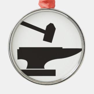 Bulta & städet julgransprydnad metall