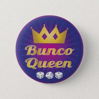Bunco drottningkrona och tärning standard knapp rund 5.7 cm