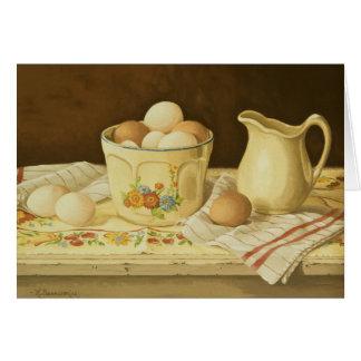 Bunke 1175 av ägg & kannahälsningkortet hälsningskort