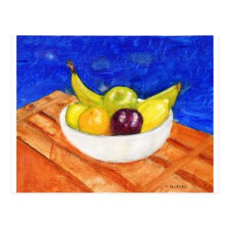 Bunke av frukt vykort