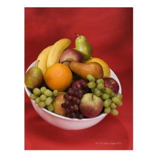 Bunke av nya frukter vykort