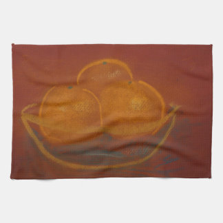 Bunke av orangematrätthandduken kökshandduk