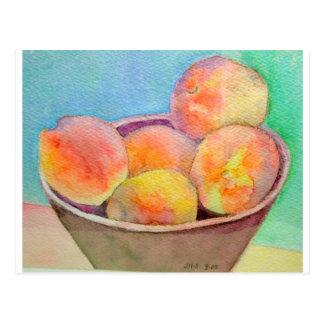 Bunke av persikor vykort