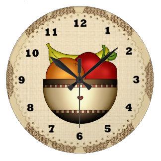Bunken av kök för frukt 2 tar tid på stor klocka