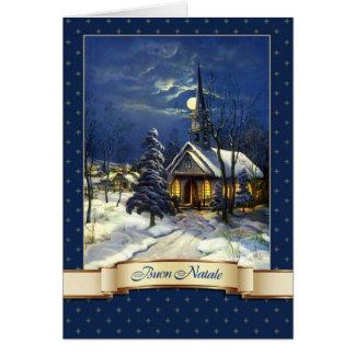 Buon Natale. Italienska julkort Hälsningskort