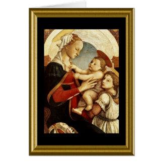 Buon natale - lords Bön i italienare Hälsningskort
