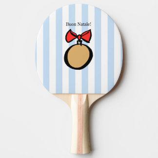 Buon Natale paddlar den röda prydnadpingen Pong Pingisracket