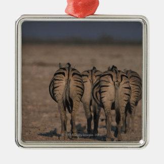 Burchells gå för zebror julgransprydnad metall