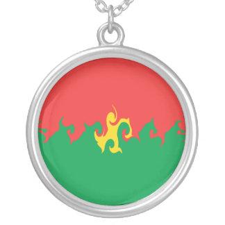 Burkina Faso Gnarly flagga Hängsmycken