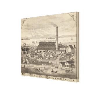 Burlington fabriks- Cos marmorarbeten Canvastryck