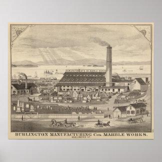 Burlington fabriks- Cos marmorarbeten Poster