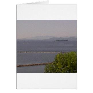 Burlington fjärd, sjö Champlain.jpg Hälsningskort