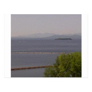 Burlington fjärd, sjö Champlain.jpg Vykort